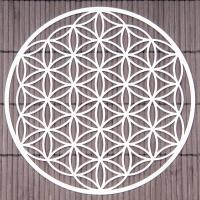 Flower of Life 18 cm Wall decoration made of stainless steel