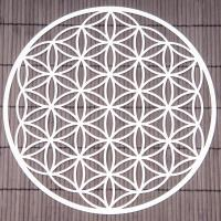 Flower of Life 25 cm Wall decoration made of stainless steel