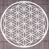 Flower of Life 24,5 cm Stainless steel wall decoration with crystals