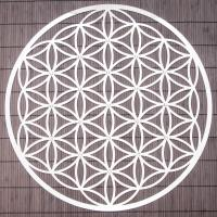 Flower of Life 44 cm Stainless steel wall decoration with crystals