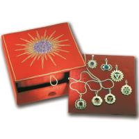 Chakra box with 7 chakra pendants including description, 50 cm foxtail chain