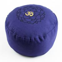Meditation Cushion Crown Chakra Purple filled with buckwheat 36 x 15 cm