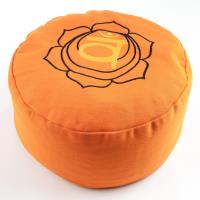Meditation Cushion Sacral Chakra Orange filled with buckwheat 36 x 15 cm