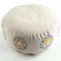 Meditation Cushion 7 Chakras Nature filled with buckwheat 36 x 15 cm