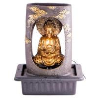 Indoor fountain Buddha 40 cm synthetic resin. Includes adapter for pump and LED light