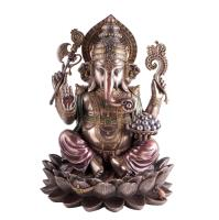 Ganesh sitting 30,5 cm Synthetic resin
