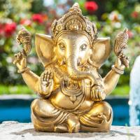 Ganesha Sitting 23 cm Ancient Brass