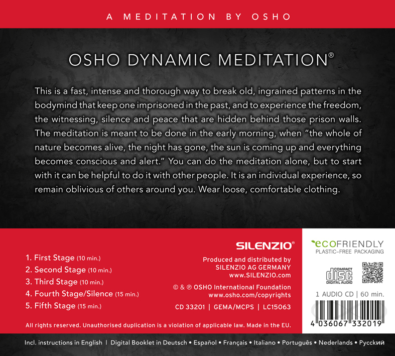 Osho Dynamic Meditation CD Music by Deuter